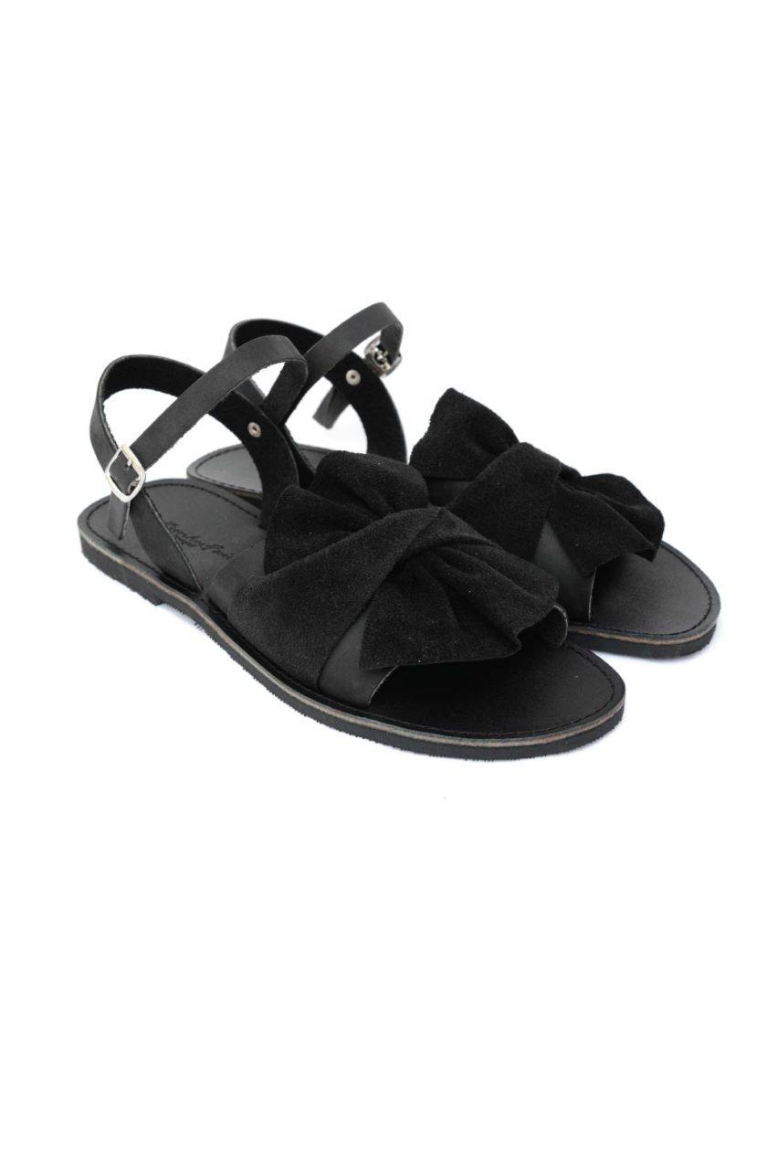 Sandale de dama din piele naturala FUNKY B, negru