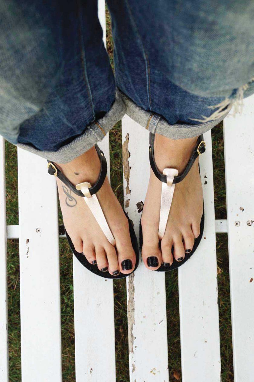 Sandale dama FUNKY ALLNUDE bronz - negru