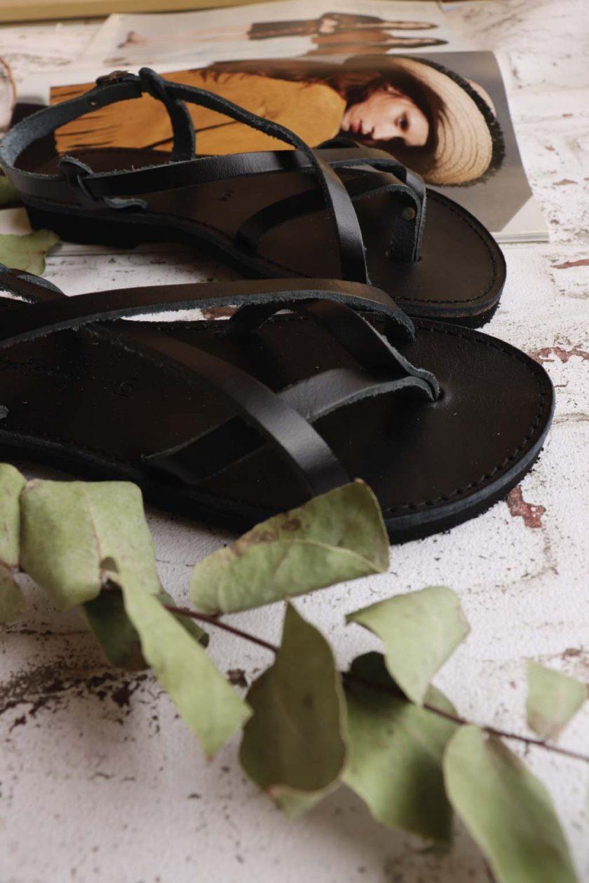 Sandale grecesti FUNKY FEELING, negru
