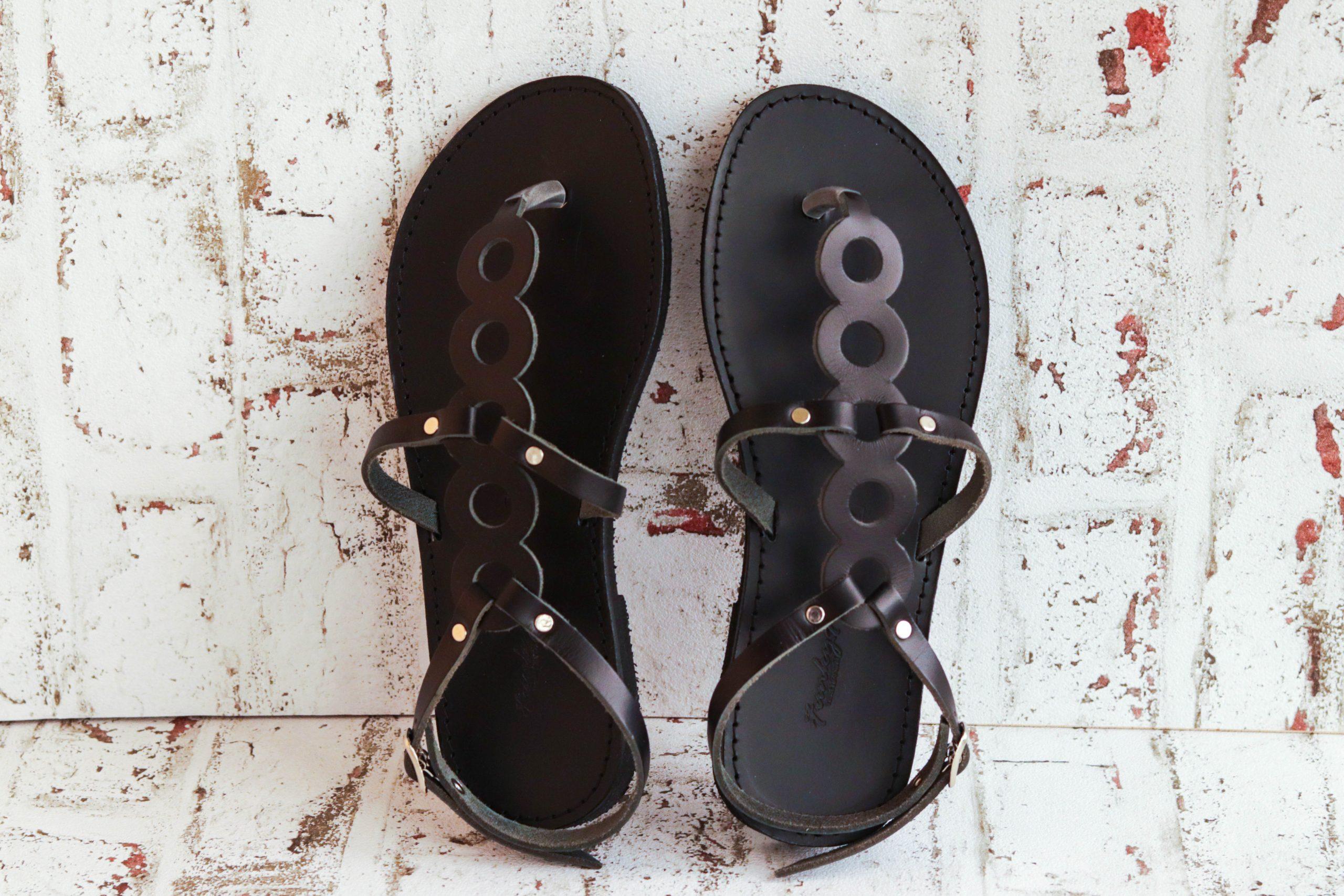 Sandale damă piele naturală FUNKY SOCIAL, negru