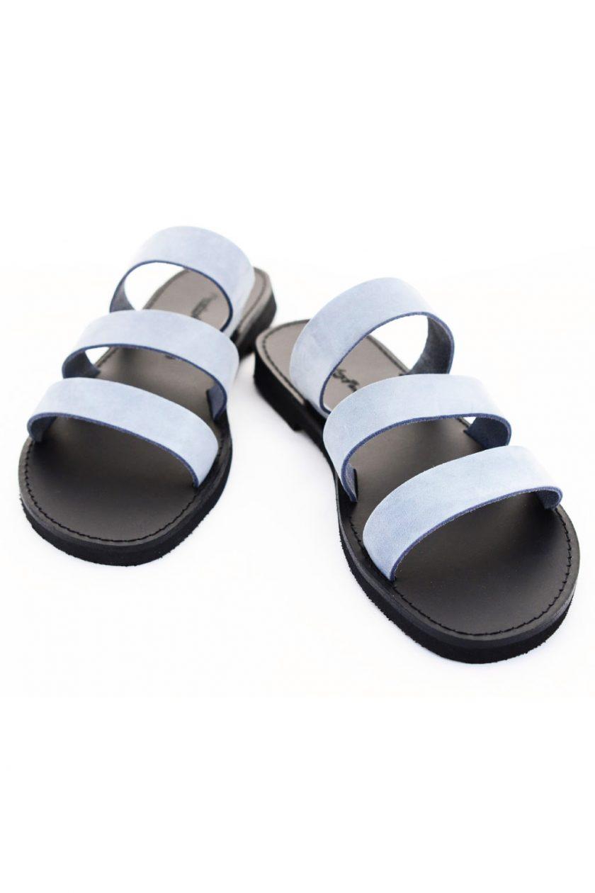 Papuci piele naturală FUNKY MOOD, bleu