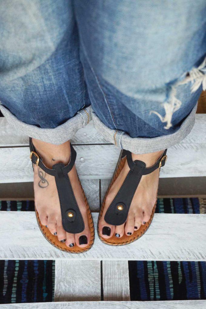 Sandale anatomice FUNKY COMFY, negru