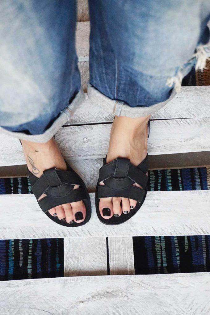 Sandale damă FUNKY CITY, negru